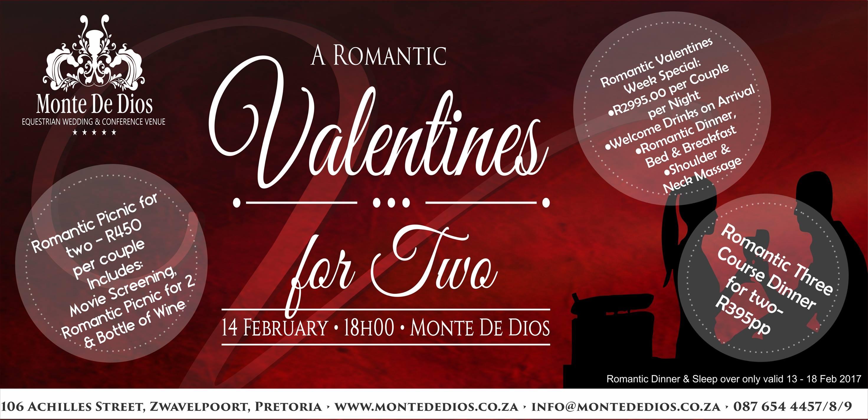 Romantic Valentine's 2017 for Two - Monte de Dios - Zwavelpoort