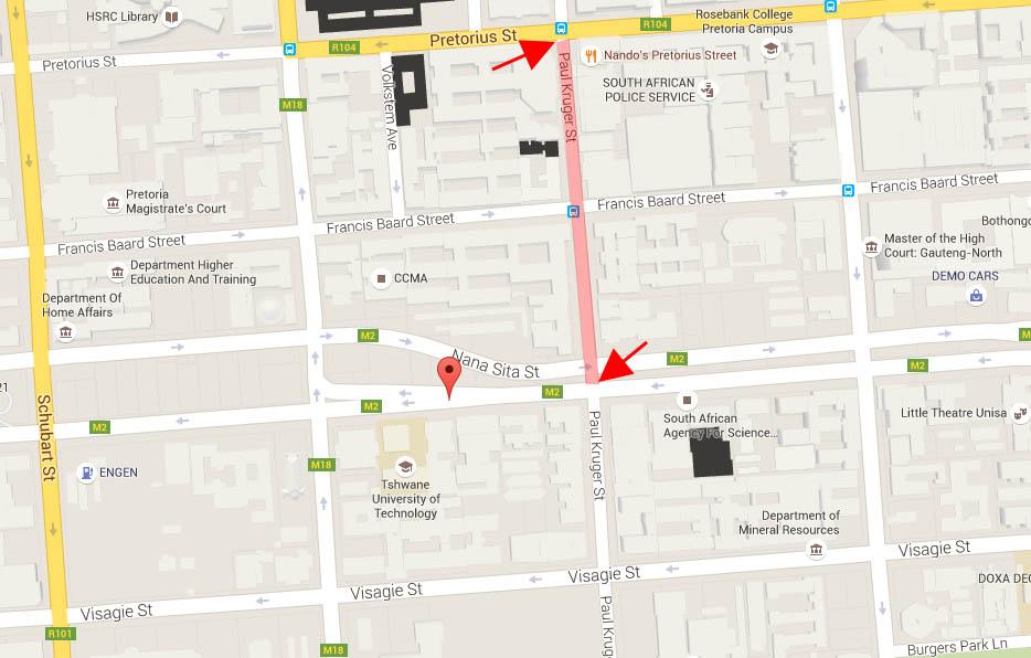Road Closures Pretoria Cbd Paul Kruger Street