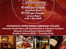Casa Toscana July 2017 Winter Specials - Romantic Winter Weekend Breakaway
