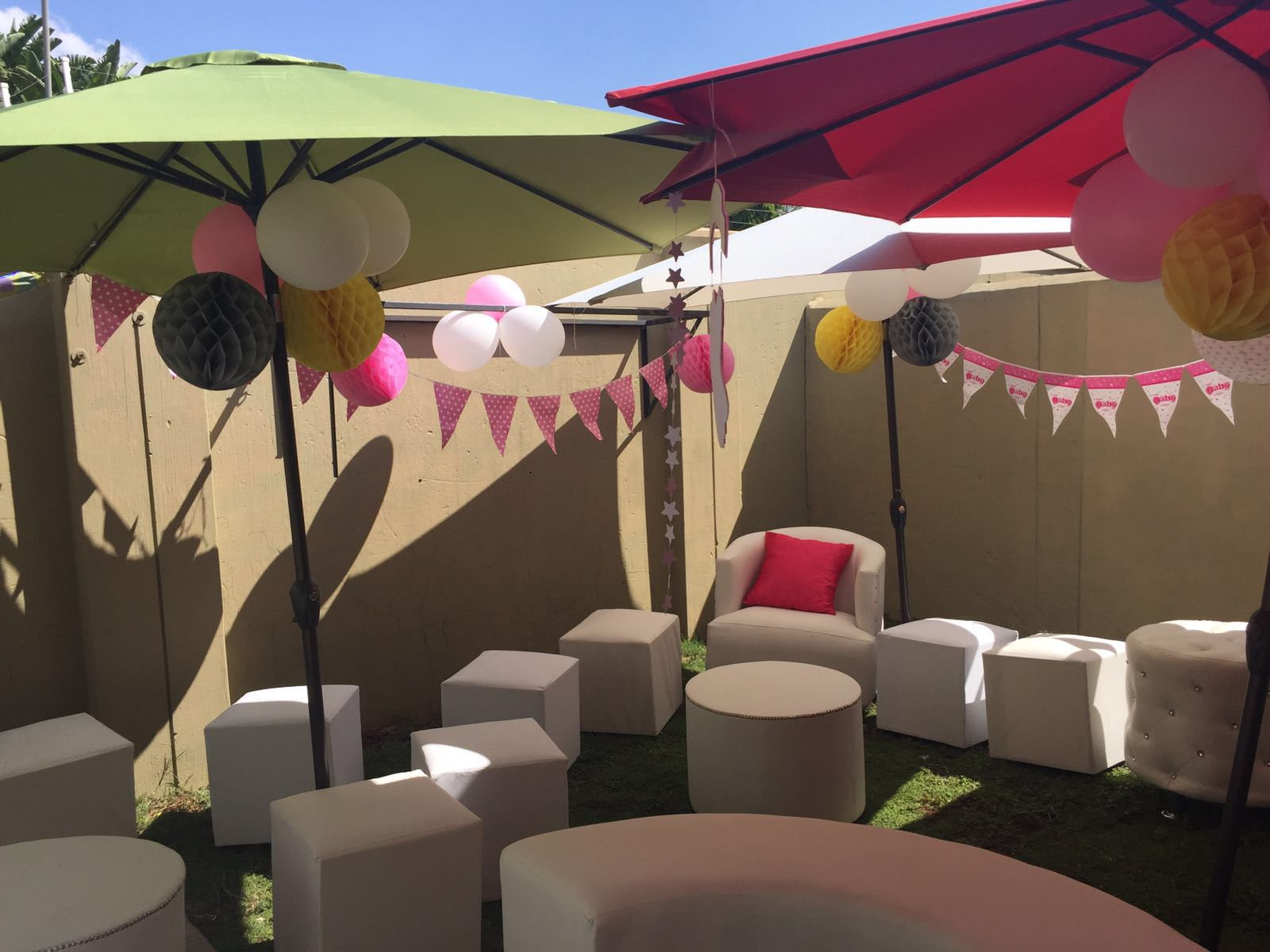 Decor hire for special events doornpoort for Baby shower function decoration