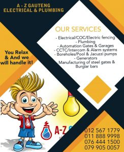 A-Z Emergency Services | A-Z Gauteng Electrical and Plumbing