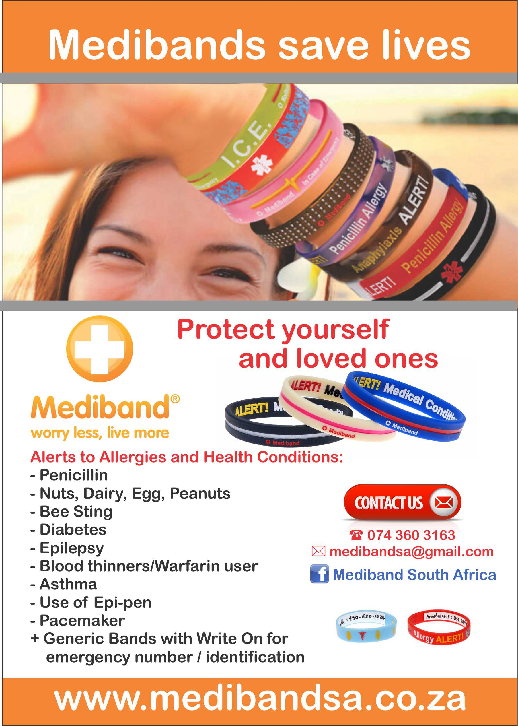 Mediband - Allergy Wristbands - Benoni