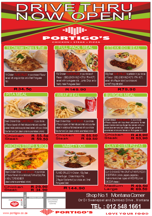Portigos Take Away Food - Montana