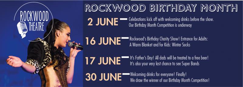 Rockwood Theatre Birthday Month 2018 Specials - Pretoria