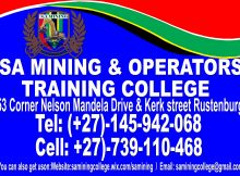 SA Mining And Operator Training College - Rustenburg