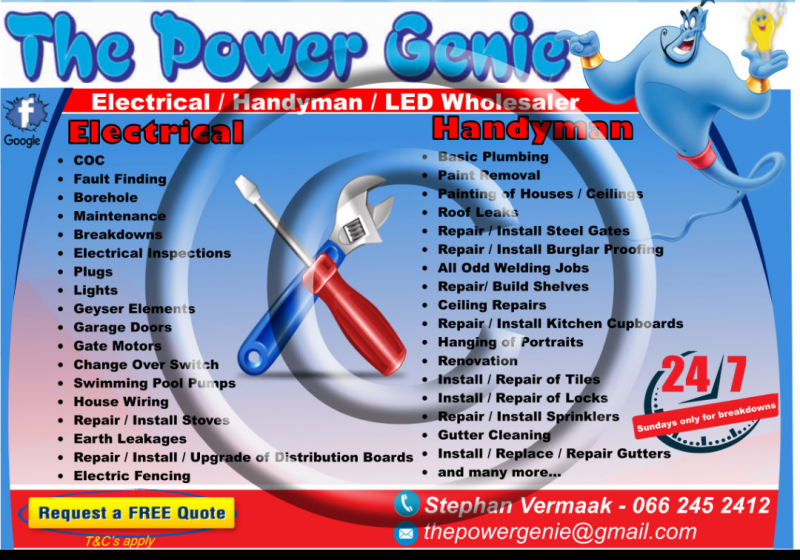 The Power Genie Electrical & Handyman Services - Doornpoort