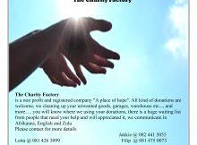 Charity Factory Pretoria East - Gauteng