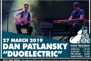 Dan Patlansky DuoElectric Tour 2019 - Blou Hond