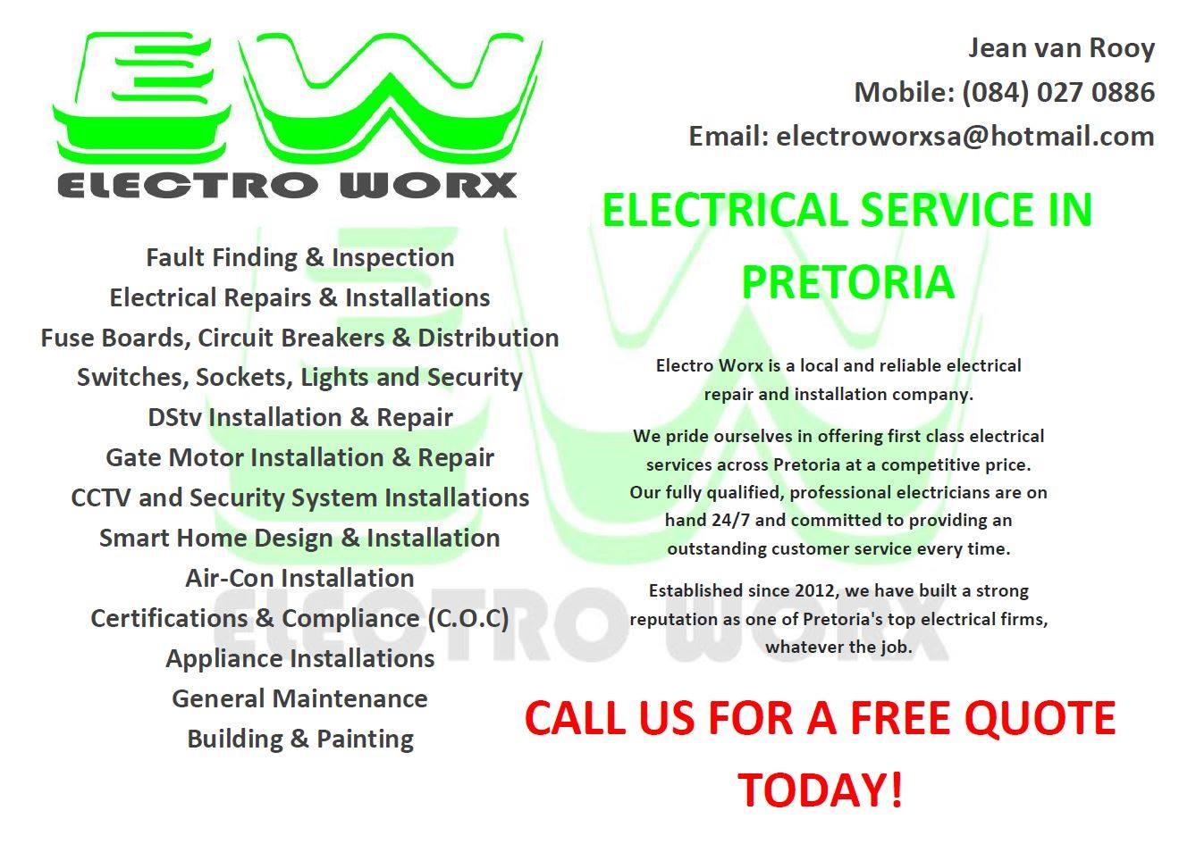 Electro Worx - Electrical Services - Pretoria